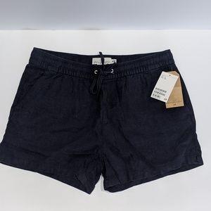 H&M Navy Linen Blend Shorts